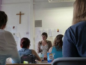 AYF intern Emily teaches English at the St. Ursula-Gymnasium, an excellent local all-girls high school.